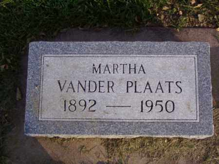 VANDER PLAATS, MARTHA - Minnehaha County, South Dakota | MARTHA VANDER PLAATS - South Dakota Gravestone Photos