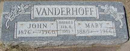 VANDERHOFF, JOHN - Minnehaha County, South Dakota   JOHN VANDERHOFF - South Dakota Gravestone Photos