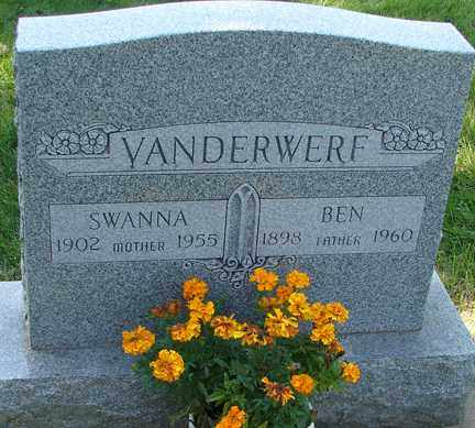 VANDERWERF, SWANNA - Minnehaha County, South Dakota | SWANNA VANDERWERF - South Dakota Gravestone Photos