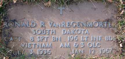 VAN REGENMORTER, RONALD R. (VIETNAM) - Minnehaha County, South Dakota   RONALD R. (VIETNAM) VAN REGENMORTER - South Dakota Gravestone Photos