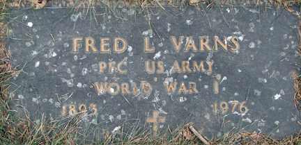 VARNS, FRED L. (WWI) - Minnehaha County, South Dakota | FRED L. (WWI) VARNS - South Dakota Gravestone Photos
