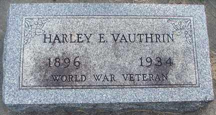 VAUTHRIN, HARLEY E. - Minnehaha County, South Dakota | HARLEY E. VAUTHRIN - South Dakota Gravestone Photos