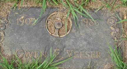 VEESER, GWEN E. - Minnehaha County, South Dakota | GWEN E. VEESER - South Dakota Gravestone Photos