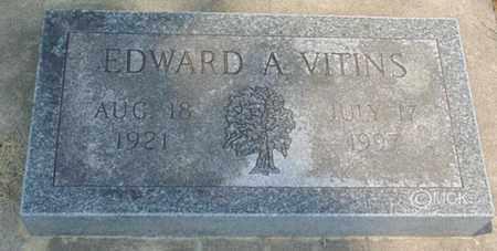 VITINS, EDWARD A. - Minnehaha County, South Dakota | EDWARD A. VITINS - South Dakota Gravestone Photos