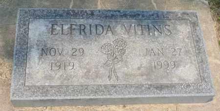 VITINS, ELFRIDA - Minnehaha County, South Dakota   ELFRIDA VITINS - South Dakota Gravestone Photos