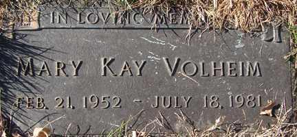 VOLHEIM, MARY KAY - Minnehaha County, South Dakota | MARY KAY VOLHEIM - South Dakota Gravestone Photos
