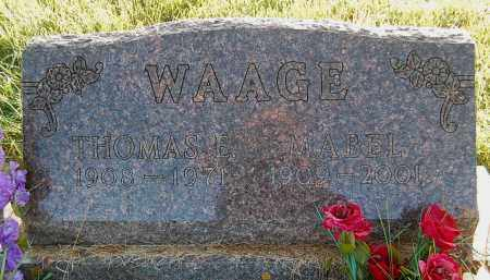 WAAGE, THOMAS E. - Minnehaha County, South Dakota | THOMAS E. WAAGE - South Dakota Gravestone Photos