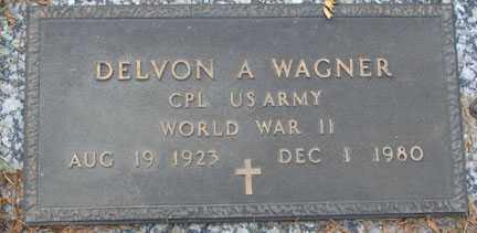WAGNER, DELVON A. - Minnehaha County, South Dakota   DELVON A. WAGNER - South Dakota Gravestone Photos