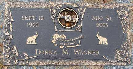 WAGNER, DONNA MARIE - Minnehaha County, South Dakota | DONNA MARIE WAGNER - South Dakota Gravestone Photos