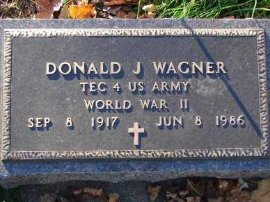 WAGNER, DONALD J. - Minnehaha County, South Dakota | DONALD J. WAGNER - South Dakota Gravestone Photos