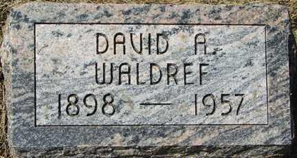 WALDREF, DAVID A. - Minnehaha County, South Dakota | DAVID A. WALDREF - South Dakota Gravestone Photos