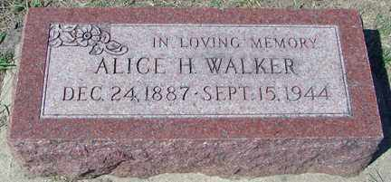 WALKER, ALICE H. - Minnehaha County, South Dakota   ALICE H. WALKER - South Dakota Gravestone Photos