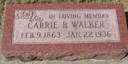 WALKER, CARRIE B. - Minnehaha County, South Dakota | CARRIE B. WALKER - South Dakota Gravestone Photos