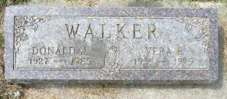 WALKER, DONALD J. - Minnehaha County, South Dakota   DONALD J. WALKER - South Dakota Gravestone Photos