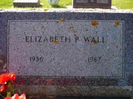WALL, ELIZABETH P. - Minnehaha County, South Dakota | ELIZABETH P. WALL - South Dakota Gravestone Photos