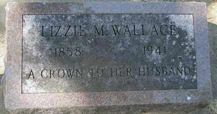 WALLACE, LIZZIE M. - Minnehaha County, South Dakota | LIZZIE M. WALLACE - South Dakota Gravestone Photos