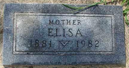 WALSER, ELISA - Minnehaha County, South Dakota | ELISA WALSER - South Dakota Gravestone Photos