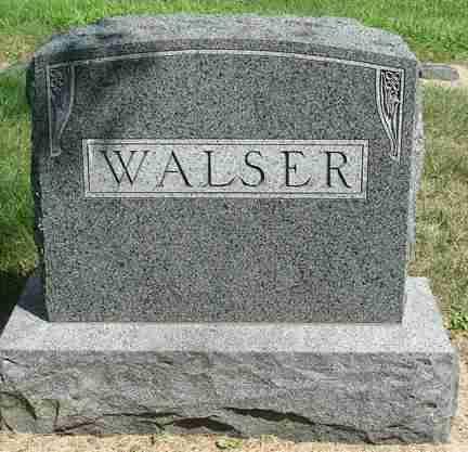 WALSER, FAMILY MARKER - Minnehaha County, South Dakota   FAMILY MARKER WALSER - South Dakota Gravestone Photos