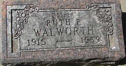 WALWORTH, RUTH P. - Minnehaha County, South Dakota | RUTH P. WALWORTH - South Dakota Gravestone Photos