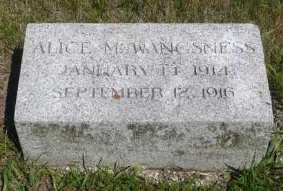 WANGSNESS, ALICE M. - Minnehaha County, South Dakota | ALICE M. WANGSNESS - South Dakota Gravestone Photos