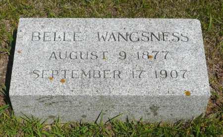 WANGSNESS, BELLE - Minnehaha County, South Dakota   BELLE WANGSNESS - South Dakota Gravestone Photos