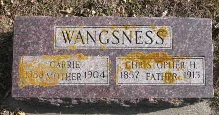 WANGSNESS, CHRISTOPHER H. - Minnehaha County, South Dakota | CHRISTOPHER H. WANGSNESS - South Dakota Gravestone Photos