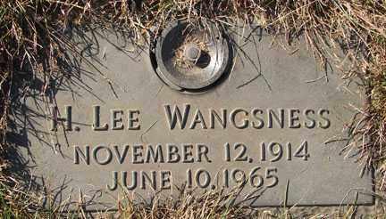 WANGSNESS, H. LEE - Minnehaha County, South Dakota | H. LEE WANGSNESS - South Dakota Gravestone Photos