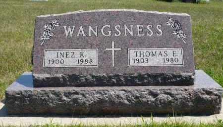 WANGSNESS, INEZ K. - Minnehaha County, South Dakota | INEZ K. WANGSNESS - South Dakota Gravestone Photos