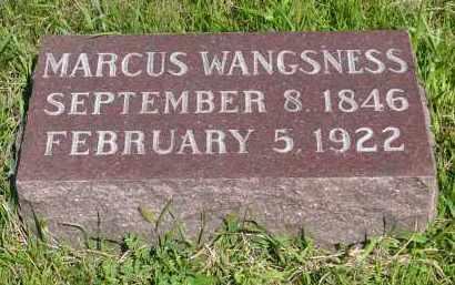 WANGSNESS, MARCUS - Minnehaha County, South Dakota | MARCUS WANGSNESS - South Dakota Gravestone Photos
