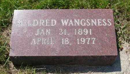 WANGSNESS, MILDRED - Minnehaha County, South Dakota | MILDRED WANGSNESS - South Dakota Gravestone Photos