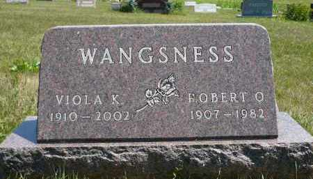 WANGSNESS, VIOLA K. - Minnehaha County, South Dakota | VIOLA K. WANGSNESS - South Dakota Gravestone Photos