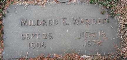WARDEN, MILDRED E. - Minnehaha County, South Dakota   MILDRED E. WARDEN - South Dakota Gravestone Photos