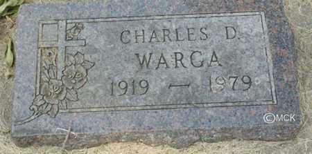 WARGA, CHARLES D. - Minnehaha County, South Dakota | CHARLES D. WARGA - South Dakota Gravestone Photos