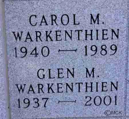 WARKENTHIEN, GLEN M. - Minnehaha County, South Dakota   GLEN M. WARKENTHIEN - South Dakota Gravestone Photos
