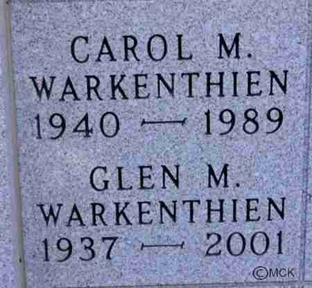 WARKENTHIEN, GLEN M. - Minnehaha County, South Dakota | GLEN M. WARKENTHIEN - South Dakota Gravestone Photos