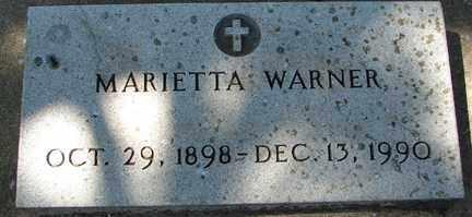 WARNER, MARIETTA - Minnehaha County, South Dakota | MARIETTA WARNER - South Dakota Gravestone Photos