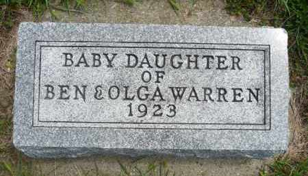 WARREN, BABY DAUGHTER - Minnehaha County, South Dakota | BABY DAUGHTER WARREN - South Dakota Gravestone Photos