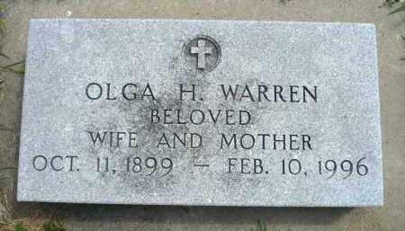 WARREN, OLGA H. - Minnehaha County, South Dakota | OLGA H. WARREN - South Dakota Gravestone Photos