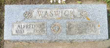 WASWICK, BELLA O. - Minnehaha County, South Dakota   BELLA O. WASWICK - South Dakota Gravestone Photos