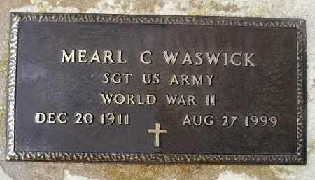 WASWICK, MERARL C. (WWII) - Minnehaha County, South Dakota | MERARL C. (WWII) WASWICK - South Dakota Gravestone Photos