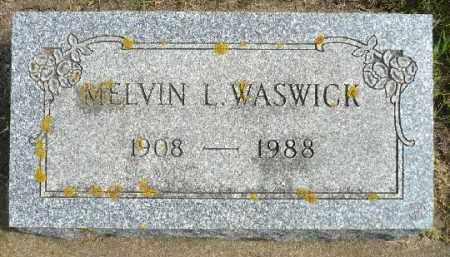 WASWICK, MELVIN L. - Minnehaha County, South Dakota   MELVIN L. WASWICK - South Dakota Gravestone Photos