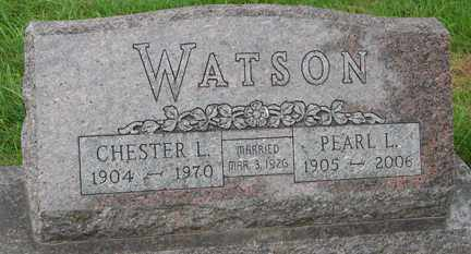 WATSON, CHESTER L. - Minnehaha County, South Dakota | CHESTER L. WATSON - South Dakota Gravestone Photos