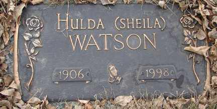 WATSON, HULDA (SHEILA) - Minnehaha County, South Dakota | HULDA (SHEILA) WATSON - South Dakota Gravestone Photos