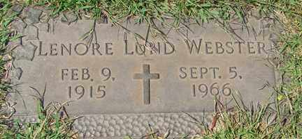 LUND WEBSTER, LENORE - Minnehaha County, South Dakota | LENORE LUND WEBSTER - South Dakota Gravestone Photos