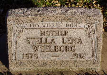 STAHL WEELBORG, STELLA LENA - Minnehaha County, South Dakota | STELLA LENA STAHL WEELBORG - South Dakota Gravestone Photos