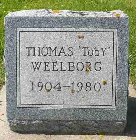 """WEELBORG, THOMAS """"TOBY"""" - Minnehaha County, South Dakota   THOMAS """"TOBY"""" WEELBORG - South Dakota Gravestone Photos"""