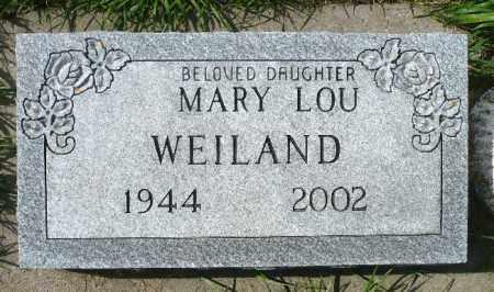 WEILAND, MARY LOU - Minnehaha County, South Dakota | MARY LOU WEILAND - South Dakota Gravestone Photos