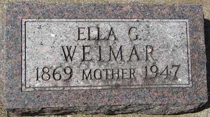 WEIMAR, ELLA G. - Minnehaha County, South Dakota | ELLA G. WEIMAR - South Dakota Gravestone Photos