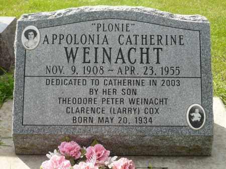 WEINACHT, APPOLONIA CATHERINE - Minnehaha County, South Dakota | APPOLONIA CATHERINE WEINACHT - South Dakota Gravestone Photos
