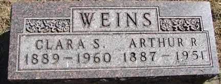 WEINS, CLARA S. - Minnehaha County, South Dakota   CLARA S. WEINS - South Dakota Gravestone Photos
